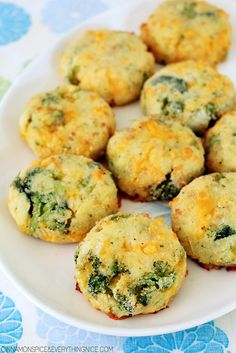 Baked Broccoli Cheese Potato Puffs cinnamonspiceandeverythingnice.com