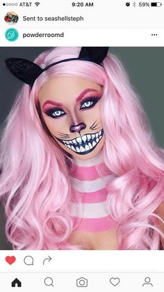 Looking for for ideas for your Halloween make-up? Browse around this site for creepy Halloween makeup looks. Halloween 2018, Cool Halloween Makeup, Halloween Inspo, Halloween Makeup Looks, Cute Halloween, Rabbit Halloween, Kids Witch Makeup, Awesome Halloween Costumes, Unique Costumes
