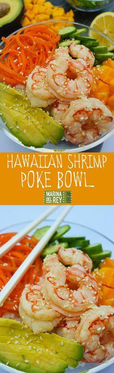 Easy Hawaiian Shrimp Poke Bowl [Recipe]