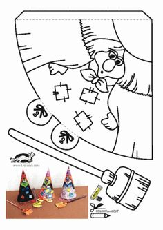 halloween activities * * * The idea box of the I & # workshop * * *: DIY halloween activity & decoration Diy Halloween Activities, Theme Halloween, Halloween Crafts For Kids, Spooky Halloween, Holidays Halloween, Holiday Crafts, Kids Crafts, Happy Halloween, Halloween Decorations