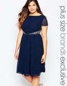 Lovedrobe Embellished Waist Midi Dress