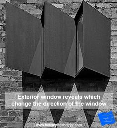 The window reveal is the walls immediately surrounding your windows and offers some interesting design opportunities. Blueprint Symbols, Floor Plan Symbols, Bay Window Design, Georgian Windows, Interior And Exterior Angles, Free Floor Plans, Window Reveal, Brick And Wood, Through The Window