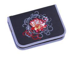 4 You Etui XL, Farb Nr. 003, Motiv: Blumen Motiv auf dunkelblau