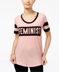 Mighty Fine Juniors' Feminist Graphic T-Shirt