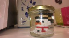 Perler beads snowman