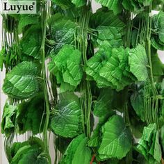 Wholesale-Luyue Stereoscopic Artificial Vines Garlands Grapes Leaves Vines Wedding Vine Plant Decoration Home Courtyard Decorations