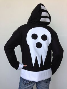 http://www.etsy.com/listing/114597083/death-the-kid-fleece-hoodie-soul-eater --- I NEED THIS IN MY LIFE *-*