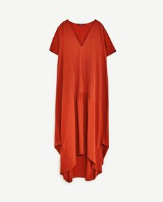 Image 8 of LONG CONTRAST DRESS from Zara