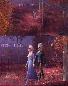 Jelsa, Elsa Y Jack Frost, Disney Love Stories, Disney Doodles, Frozen Wallpaper, Punk Disney Princesses, Disney Movies, Disney Stuff, Funny Disney