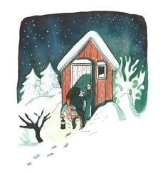"""The Tomten by Astrid Lindgren and Kitty Crowther   tygertale. """"...the tomten leaves no presents behind. The message of this book is simple: the most precious gift at this time of year is having someone to watch over you in the darkness. Even if it is a nobbly nosed old man in a tatty bobble hat."""""""