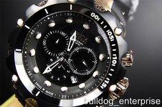 Men's Invicta Reserve Gen II 2 Venom Swiss Black MOP Dial Chronograph Watch New