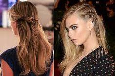 Resultado de imagem para penteados com trança e solto