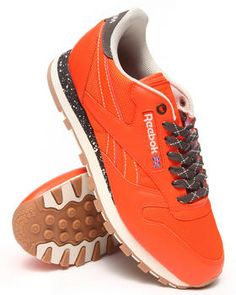 Love this Cl Leather Ballistic Speckled Sneakers by Reebok on DrJays. Take a look and get 20% off your next order!