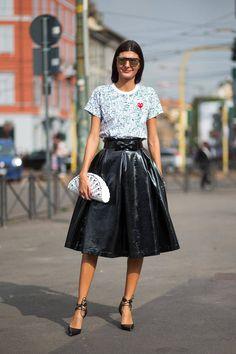 Swoon Worthy Street Style Snaps From Milano Giovanna Battaglia Milan Fashion Week Street Style, Fashion Week 2015, Looks Street Style, Spring Street Style, Milan Fashion Weeks, Street Chic, Spring Fashion, Teen Fashion, Style Fashion