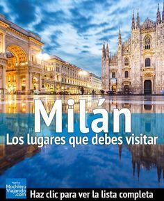 Descubre los lugares más hermosos e increíbles de la capital de la moda, Milán y que debes visitar en tu próximo viaje a esta ciudad. #Viaje #Mochilero #guia #guide #europa #viajes #presupuestos #guiadeViaje #traveltips #travel #travelblog #travelblogger #europe #consejos #consejoviaje #motivación #moda #cathedral #tutorial #diy #plan #planear #planviaje #viajero #duomo #catedral #milan #italia #milano #italy #castillo #castle #vittorioemanuele #allascala #sforzesco Milan Italy Travel, Italy Travel Tips, Italy Packing List, Places To Travel, Places To Go, Italy Destinations, Best Of Italy, Tours, Beautiful Places To Visit