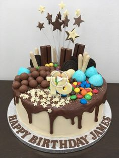 Excellent Image of Chocolate Birthday Cakes . Chocolate Birthday Cakes Drip Cake Lovinghomemade Birthday Excellent Image of Chocolate Birthday Cakes Boys 16th Birthday Cake, Sweet 16 Birthday Cake, Birthday Cakes, Chocolate Birthday Cake Kids, Birthday Ideas, Thanksgiving Desserts Easy, Quick Easy Desserts, Quick Dessert, Thanksgiving Feast