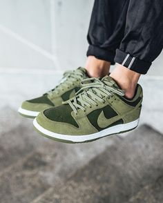 """6434dfd133fd8 Titolo Sneaker Boutique on Instagram  """"just in 🍃 Nike Dunk Low  Palm  Green Palm Green-Legion Green-White  available now in-store and online   titoloshop ..."""
