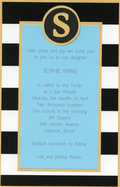Turquoise, gold and black Bat Mitzvah from Barefoot Creations