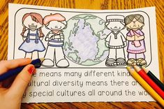 Cultural Diversity Mini-Book by The Principal's Wife Culture Definition, Martin Luther King Kids, International Festival, Cultural Diversity, Mini Books, Teacher Pay Teachers, Students, Teaching