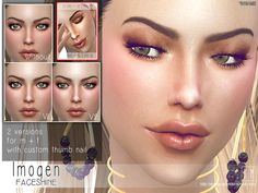 A faceshine for male and female sims to use  Found in TSR Category 'Sims 4 Female Skin Details'