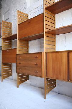 1960s Teak Ladderax Storage System