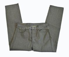 Levi 501 Button Fly Straight Leg GREEN Denim Jeans Tag Size 34x32  #Levis #ClassicStraightLeg
