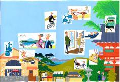Monocle : Kamakura : Illustrations by Satoshi Hashimoto www.dutchuncle.co.uk/satoshi-hashimoto-images
