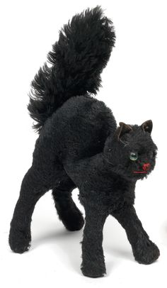 Vintage black cat plush from Steiff