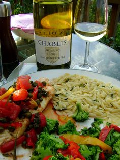 Chablis and fish. Accord met vin, pairing food and wine.
