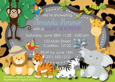 Safari Jungle Baby Shower Invitation  Cheetah by FabPartyPrints