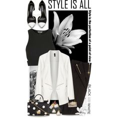 Simply Black and White by shortyluv718 on Polyvore featuring Topshop, Manon Baptiste, Dolce&Gabbana, maurices and Kendra Scott