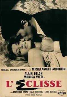 L'eclisse (Michelangelo Antonioni, 1962) La fin d'un couple, le début d'un autre, l'architecture, le silence, la folie boursière ou la solitude dans la foule. Le plus beau rôle de Vitti.