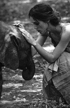 Keira and elephant