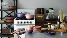 LE CREUSET  I want to make my kitchen like this iterior.