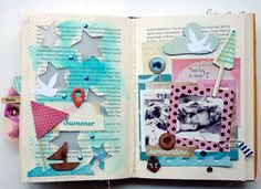 Happy little moments: taking a nap altered book