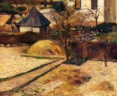 Garden View Rouen 1884 | Paul Gauguin | oil painting
