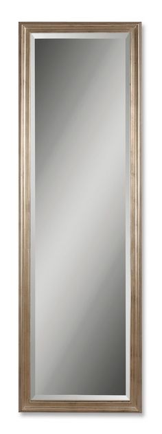 """Uttermost Petite Hekman Antique Silver Mirror This solid wood frame features a antique, champagne silver leaf Finish with black undercoat. The mirror features a 1 1/4"""" bevel Uttermost's mirrors combine premium quality materials with unique high-style design."""