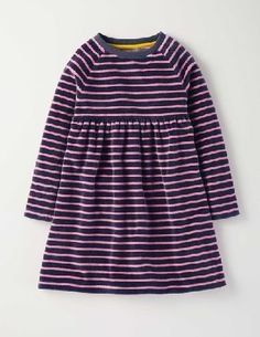 Baby Boden Cosy Velour Dress Soot/Formica Pink Stripe Baby Hot chocolate or orange squash? Long walk or bike ride? Some days you have so many more interesting things to think about than what to wear. Our long-sleeved dress makes it easy - just throw it on and http://www.MightGet.com/january-2017-13/baby-boden-cosy-velour-dress-soot-formica-pink-stripe-baby.asp