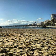 Marbella, beach, luxe, Mediterranean, sand, skyline, paradise.