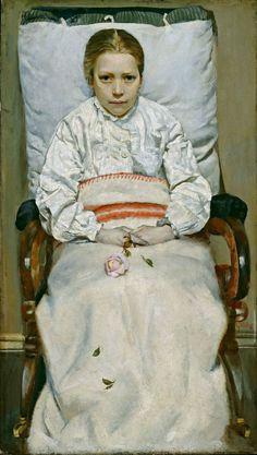 Christian Krogh 1852-1925   Sick Child