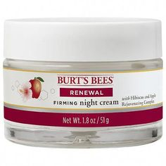 NIGHT CREAM: Sleep your way to younger looking skin with this firming night cream that helps tone and renew your skin on your face and neck ANTI-AGING CREAM: Anti-aging Hibiscus and Apple Rejuvenating Complex lock in moisture for fresher, smoother skin, diminishing fine lines and wrinkles NATURAL FACE LOTION: The 98.9% natural face cream deeply hydrates and improves skin texture throughout the night DERMATOLOGIST TESTED: This Renewal Night Cream is Dermato #BestEyeCream Natural Face Cream, Skin Care Cream, Skin Cream, Eye Cream, Anti Aging Cream, Website, Eyes, Face Lotion, Burts Bees