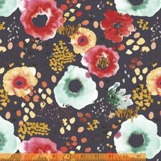 Kelly Ventura - Flora - Wildflowers in Midnight Gray