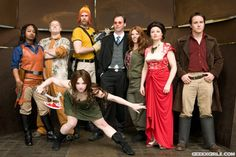 Firefly crew cosplay. They're good, but I think the guy playing Wash captured his character the best.