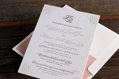 Pretty #calligraphied #wedding #invitation