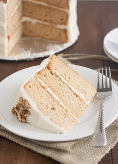 Apple-Spice Layer Cake with Goat Cheese Frosting by Tracey's Culinary Adventures @Tracey's Culinary Adventures I Tracey Wilhelmsen