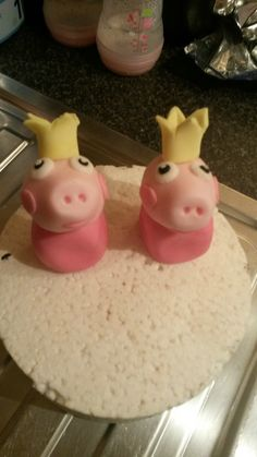 Peppa pig toppers half done