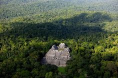 Maya temple Caana, Caracol Archeological Site, Cayo District, Belize (16°46' N, 89°07' W).