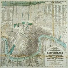 vintage New Orleans map