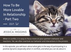 New Episode: How to be more lovable in relationship - part two. It can be easy to fall into the trap of looking at our partner's shortcomings. Yet, our power comes from the way we show up in relationship. Successful Relationships, Relationships Love, Gottman Institute, John Gottman, Reflection Questions, Relationship Challenge, You Hurt Me, Do Your Best, Feel Good