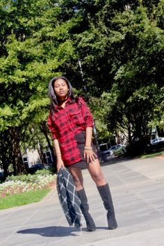 Its Monday, and you all know Mondays are my jam. I always feel a sense of optimism at the start of a new week. Fall Staples, Plaid Shirts, New Week, Mini Skirts, Style Inspiration, Boots, Fashion, Shearling Boots, Moda
